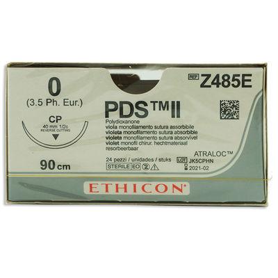 PDS II Z485E lila 0 omvänt skärande nål CP 90 cm /24