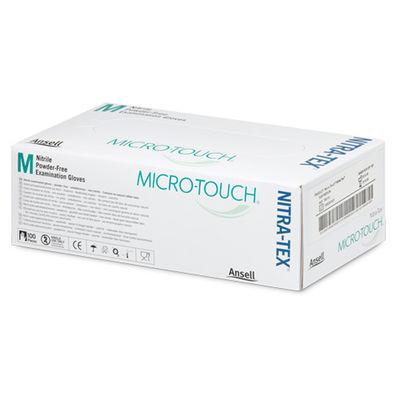 Microtouch Nitra-Tex undersökningshandske puderfri M /100