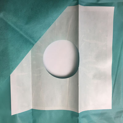 Foliodrape hålduk 120x150 cm med häfta runt hålet som är  ø 7 cm /st