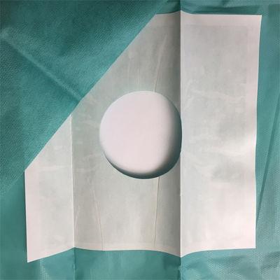 Foliodrape hålduk 50x60 cm med häfta runt hålet som är  ø 7 cm /st