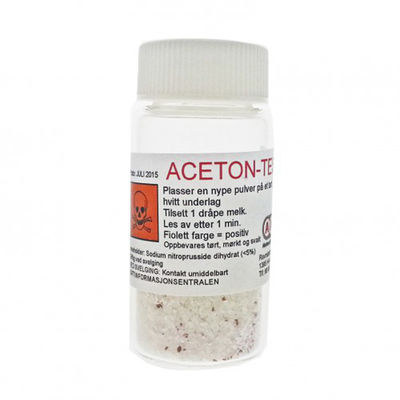 Acetontest, pulver ketonreagens för mjölk /st