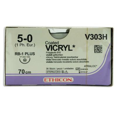 Vicryl V303H lila 5/0 taperpoint nål RB-1 70 cm /36