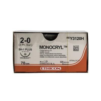 Monocryl Y3120H lila 2/0 rund nål JB-1 70 cm /36