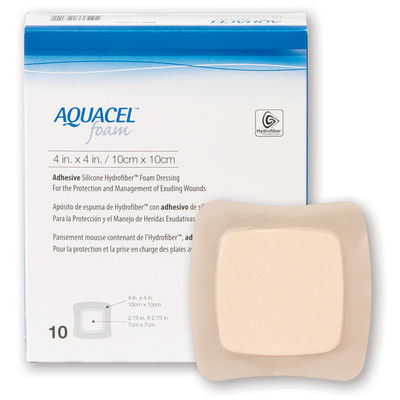 Aquacel Foam Vidhäftande 10x10 cm /10