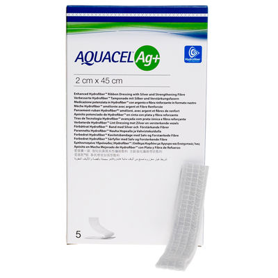 Aquacel Ag+ WSF band/tamponad 2x45 cm /5