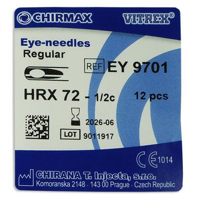 Runda suturnålar med stängt öga Vitrex HRX-72 1/2 cirkel /12