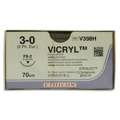 Vicryl V398H lila 3/0 omvänt skärande nål FS-2 70 cm /36