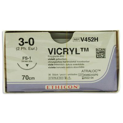 Vicryl V452H lila 3/0 omvänt skärande nål FS-1 70 cm /36