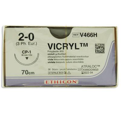 Vicryl V466H lila 2/0 omvänt skärande nål CP-1 70 cm /36