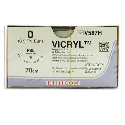 Vicryl V587H lila 0 omvänt skärande nål FSL 70 cm /36