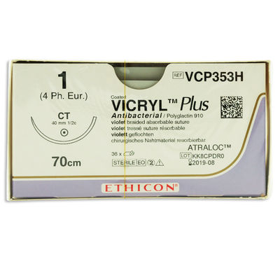 Vicryl Plus VCP353H lila 1 taperpoint nål CT 70 cm /36