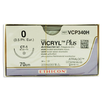 Vicryl Plus VCP340H lila 0 taperpoint nål CT-1 70 cm /36