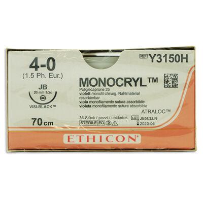 Monocryl Y3150H lila 4/0 rund nål JB 70 cm /36