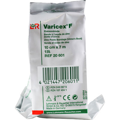 Varicex F zinkbinda oelastisk 10 cmx7 m /st