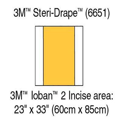 Ioban incisionsduk 6651EU 56x85 cm /st