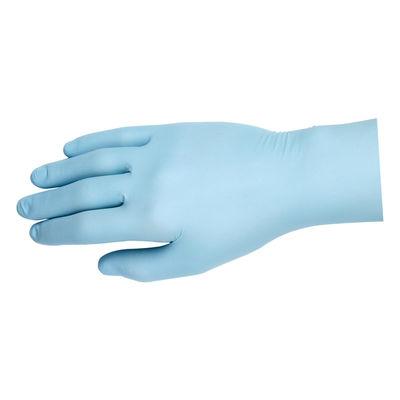 Nitril blå undersökningshandske puderfri kraftig L /100