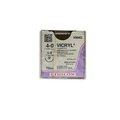 Vicryl V994G lila 4/0 tapercut nål V-5 70 cm /12