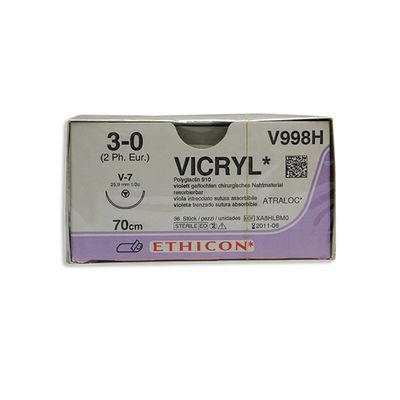 Vicryl V998H lila 3/0 tapercut nål V-7 70 cm /36
