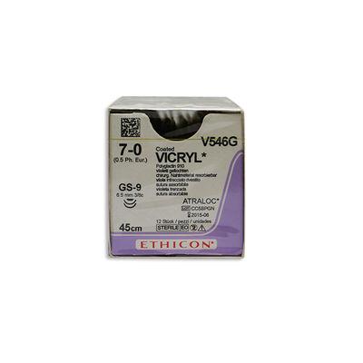 Vicryl V546G lila 7/0 omvänt skärande nål 2XGS-9 45 cm /12