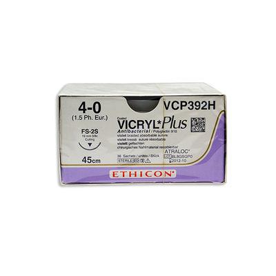 Vicryl Plus VCP392H lila 4/0 omvänt skärande nål FS-2 45 cm /36