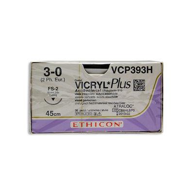 Vicryl Plus VCP393H lila 3/0 omvänt skärande nål FS-2 45 cm /36