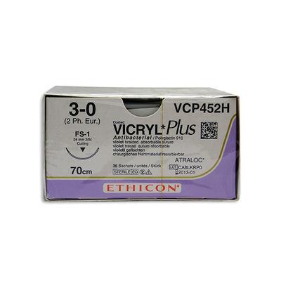 Vicryl Plus VCP452H lila 3/0 omvänt skärande nål FS-1 70 cm /36