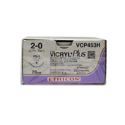 Vicryl Plus VCP453H lila 2/0 omvänt skärande nål FS-1 70 cm /36