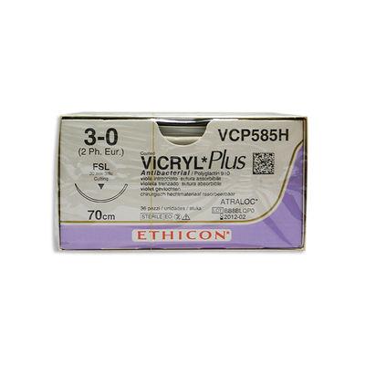 Vicryl Plus VCP585H lila 3/0 omvänt skärande nål FSL 70 cm /36