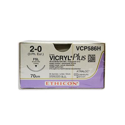 Vicryl Plus VCP586H lila 2/0 omvänt skärande nål FSL 70 cm /36