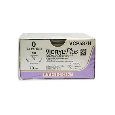 Vicryl Plus VCP587H lila 0 omvänt skärande nål FSL 70 cm /36