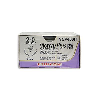 Vicryl Plus VCP466H lila 2/0 omvänt skärande nål CP-1 70 cm /36