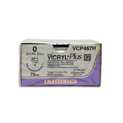 Vicryl Plus VCP467H lila 0 omvänt skärande nål CP-1 70 cm /36