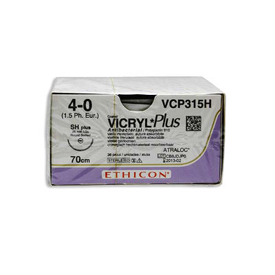 Vicryl Plus VCP315H lila 4/0 taperpoint nål SH 70 cm /36