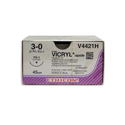 Vicryl Rapide V4421H ofärgad 3/0 omvänt skärande nål FS-1 45 cm /36