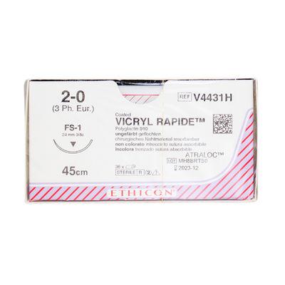 Vicryl Rapide V4431H ofärgad 2/0 omvänt skärande nål FS-2 45 cm /36