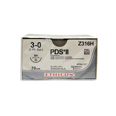 PDS II Z316H lila 3/0 rund nål SH 70 cm /36