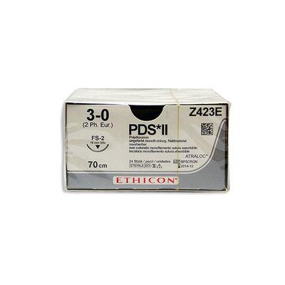 PDS II Z423E ofärgad 3/0 omvänt skärande nål FS-2 70 cm /24