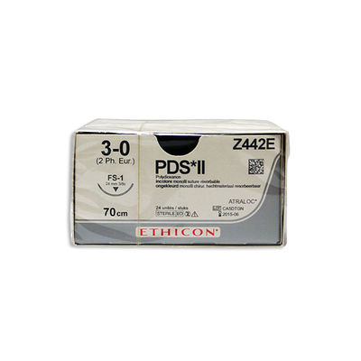 PDS II Z442E ofärgad 3/0 omvänt skärande nål FS-1 70 cm /24