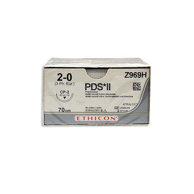 PDS II Z969H lila 2/0 omvänt skärande nål CP-2 70 cm /36