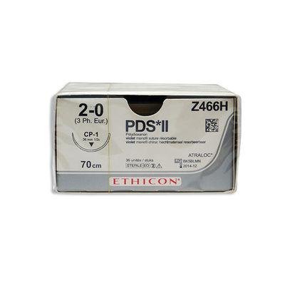 PDS II Z466H lila 2/0 omvänt skärande nål CP-1 70 cm /36