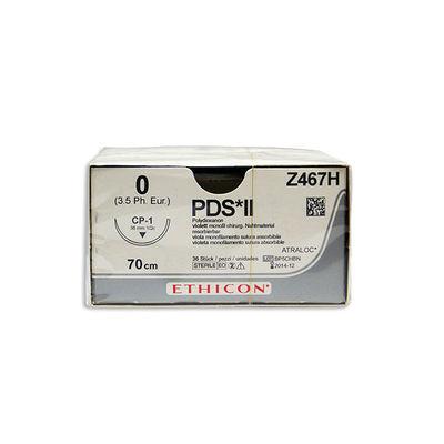 PDS II Z467H lila 0 omvänt skärande nål CP-1 70 cm /36