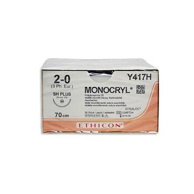 Monocryl Y417H lila 2/0 rund nål SH 70 cm /36