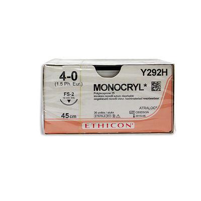 Monocryl Y292H ofärgad 4/0 omvänt skärande nål FS-2 45 cm /36