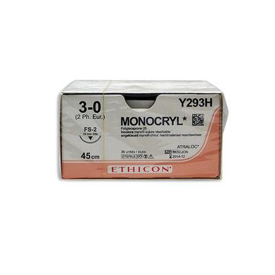 Monocryl Y293H ofärgad 3/0 omvänt skärande nål FS-2 45 cm /36