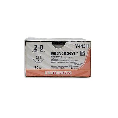 Monocryl Y443H ofärgad 2/0 omvänt skärande nål FS-1 70 cm /36