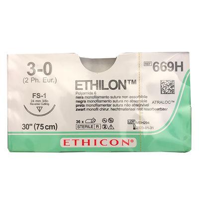 Ethilon II 669H svart 3/0 omvänt skärande nål FS-1 75 cm /36