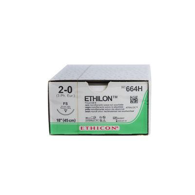 Ethilon II 664H svart 2/0 omvänt skärande nål FS 45 cm /36
