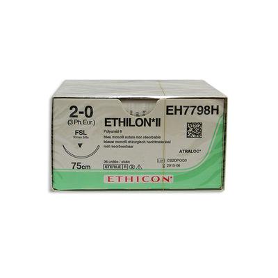 Ethilon II EH7798H blå 2/0 omvänt skärande nål FSL 75 cm /36