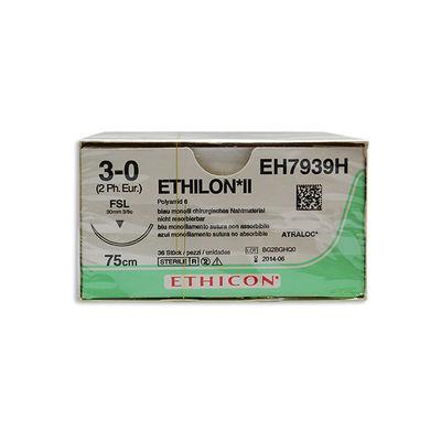 Ethilon II 1671H blå 3/0 omvänt skärande nål FSL 75 cm /36