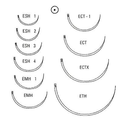 Runda suturnålar med fjäderöga Vitrex HR-36 1/2 cirkel /12